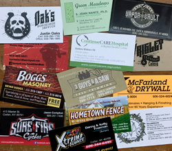 A wide variety of business cards
