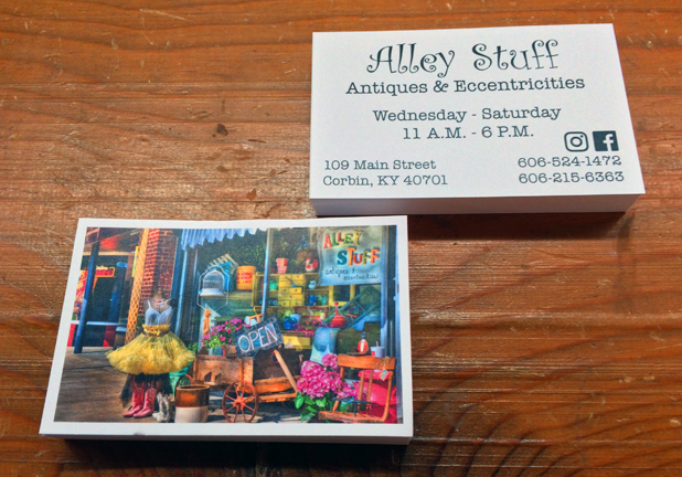 Full Color Business Card with Unique Fonts