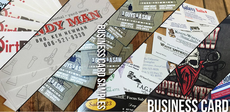 Business Card Samples by Hinkle Printing
