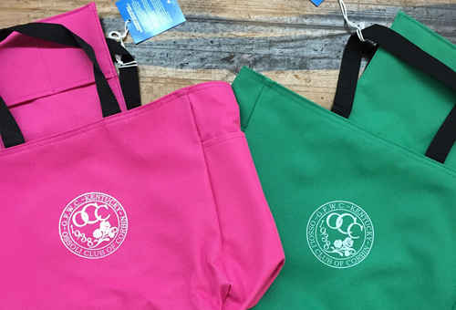 Screenprinted Handbags with printed logo