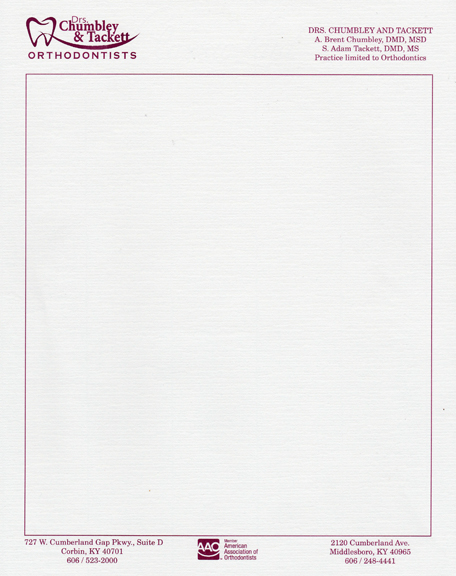 One Color Letterhead on Ivory Linen Stock