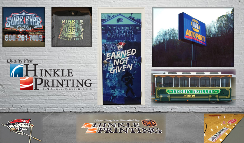 The many printing products offered by Hinkle Printing!