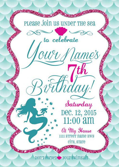 Graphic Designed Birthday Invitation