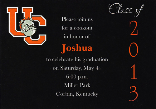 Two sided Graduation Invitation