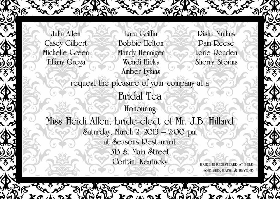 Bridal Tea Invitations & Announcements