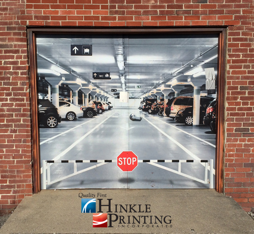 Creative Door Graphics for any type of door & Hinkle Printing · Wall and Window Graphics