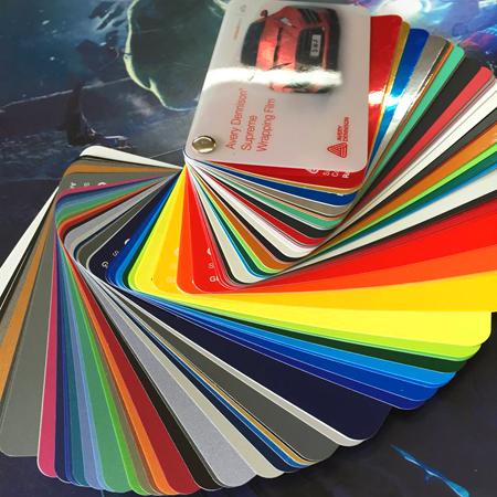 Various Car Wrap Colors