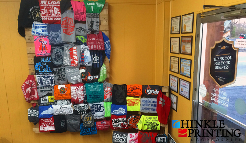 Custom made t-shirts and clothing apparel in KY