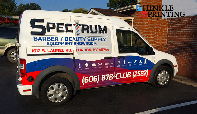 The one of many vehicle wraps offered by Hinkle Printing!