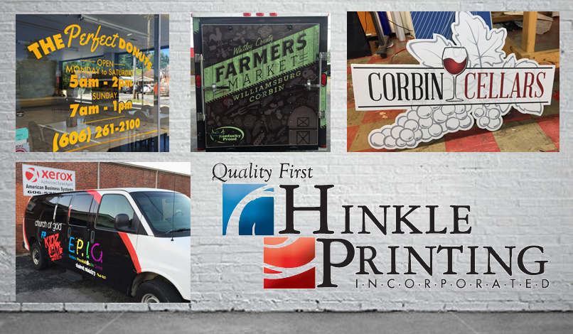 The many printed products offered by Hinkle Printing!