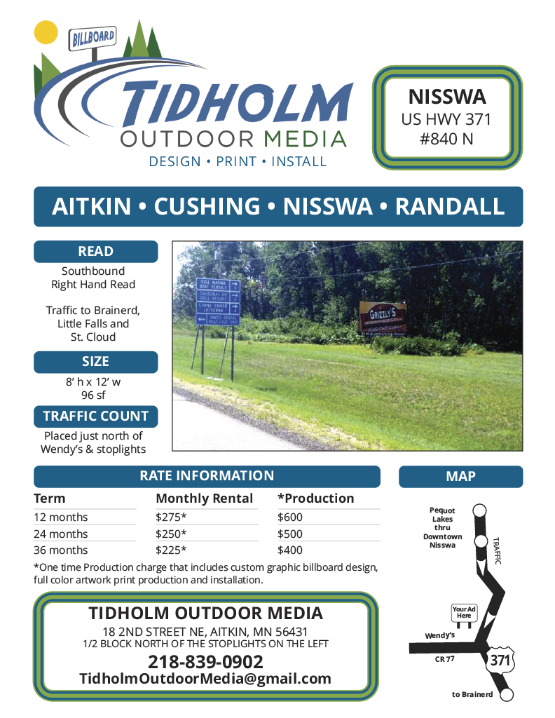 Nisswa Billboard 840 N