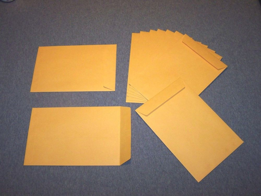 9.5 x 6.5 tan envelope