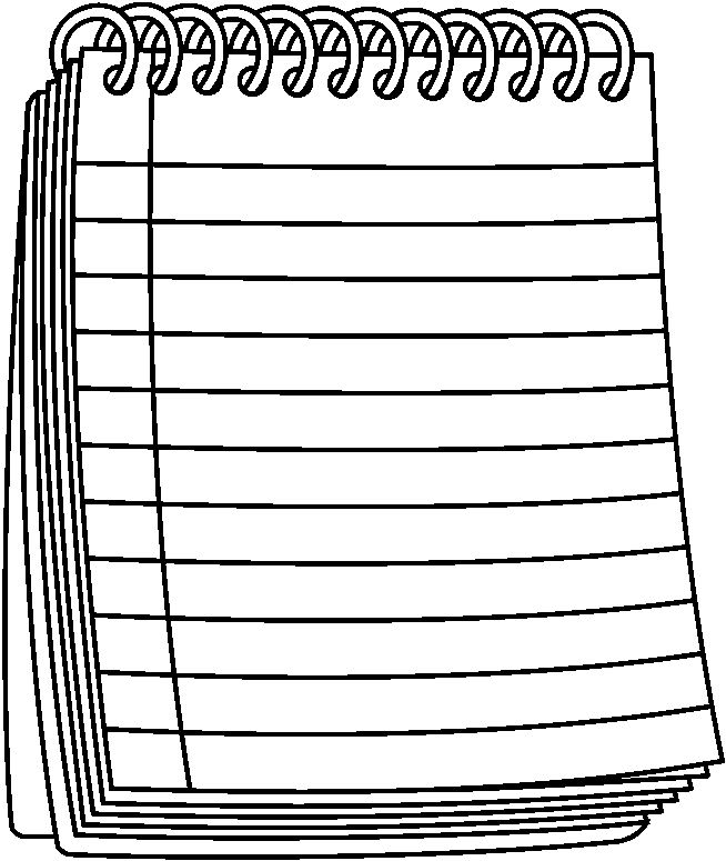 BW notepad spiral