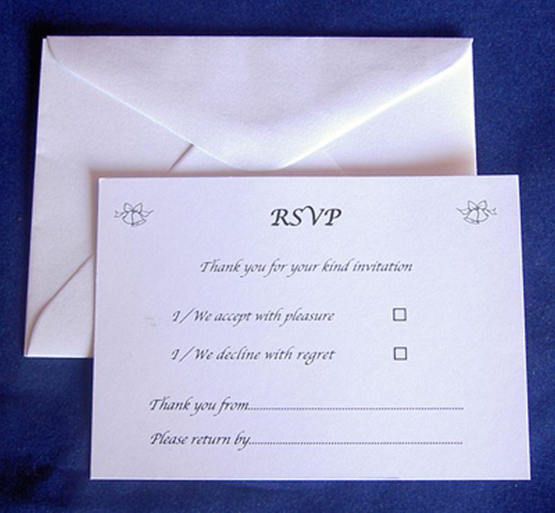Flat RSVP Cards