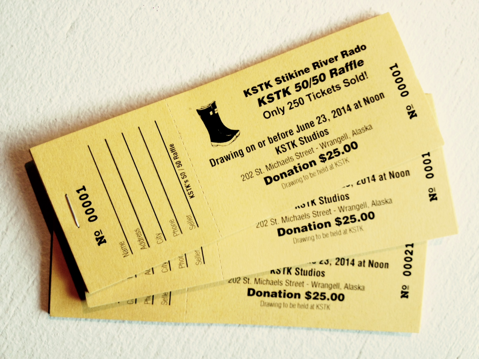 Evans Print & Media Group · Raffle Tickets