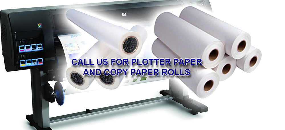 Plotter paper, copy paper, color prints