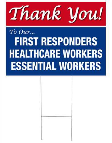 THANK YOU! First Responders 24x18