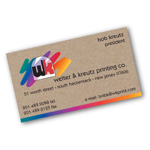 Welter kreutz printing brown kraft business cards brown kraft business card reheart Gallery