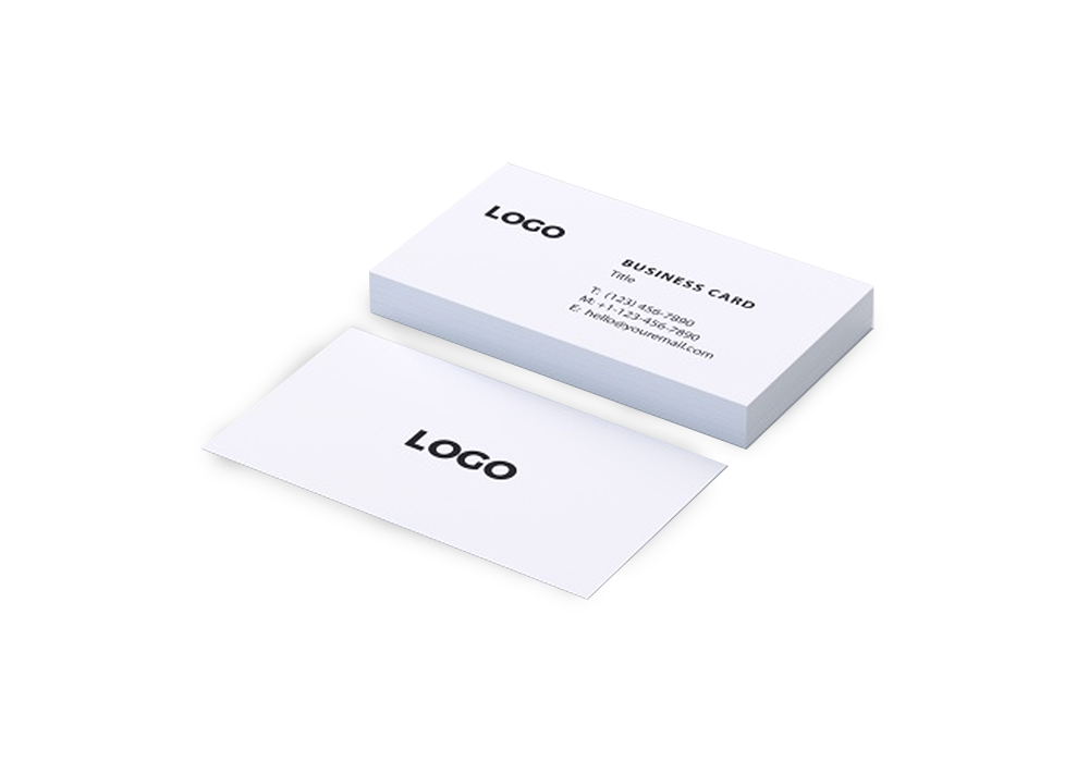 Natural White Business Card Printing