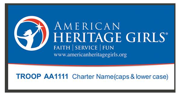 AHG 4 x 8 Blue Banners