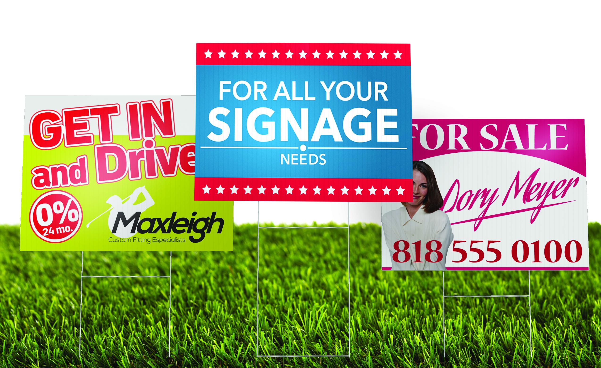 yard signs coroplast