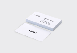Natural White Business Cards