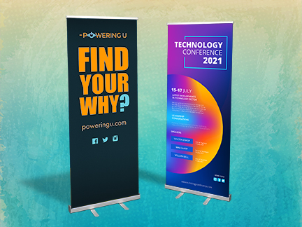 Banner w/ Stand, Double-Sided