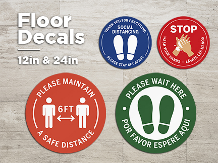 Floor Decals - 12in and 24in