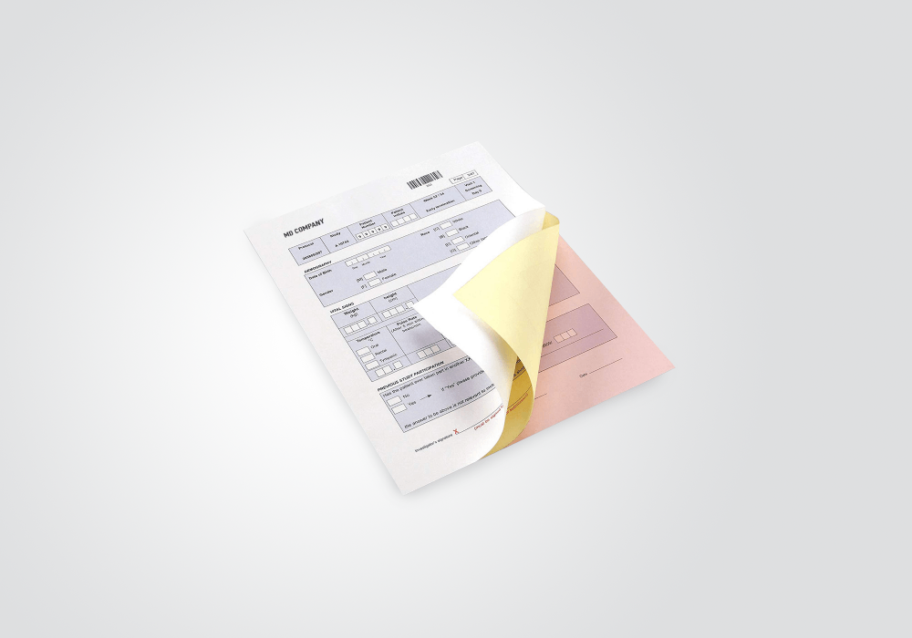 Sample Carbonless NCR Forms Printing