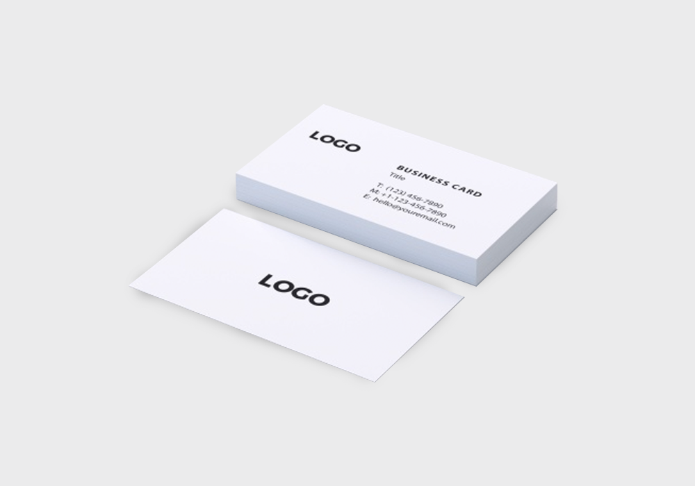 Sample Natural White Business Cards Printing