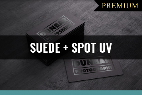 PREMIUM Suede Laminated + Spot U.V. Business Cards