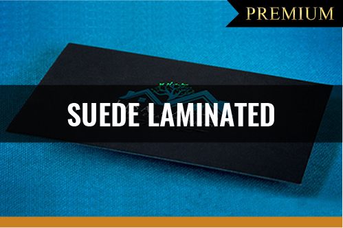 PREMIUM Suede Laminated Business Cards
