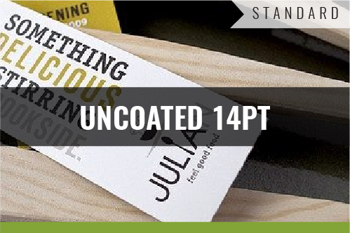 Standard Uncoated 14pt Business Cards