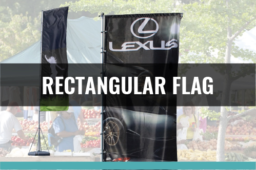 Rectangle Flag - 3 Sizes