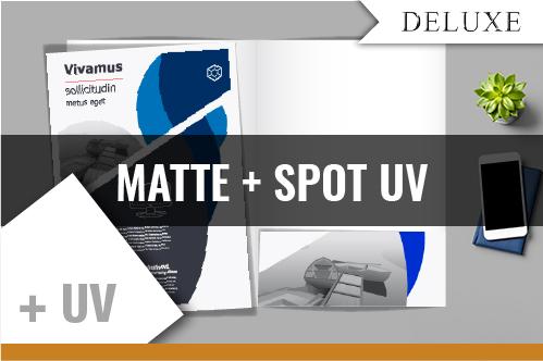 MATTE COATED / SPOT U.V.