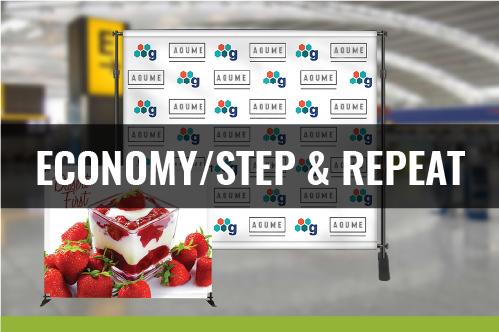 Economy Backdrop/Step & Repeat Display