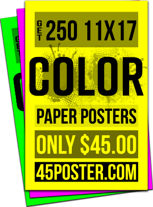 Color paper posters - digital and offset printing in Portland, Oregon