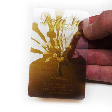 30mil Clear Plastic Card Printing