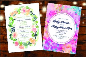 5x7 Invitations Blank A-7 White Envelopes