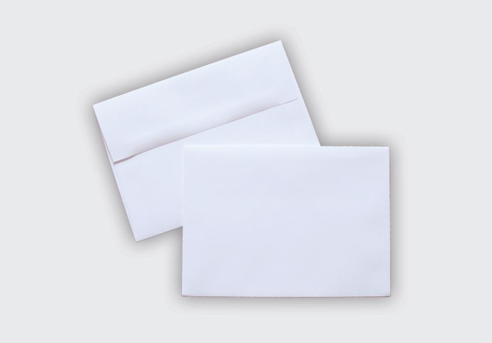 A-2 White Envelopes