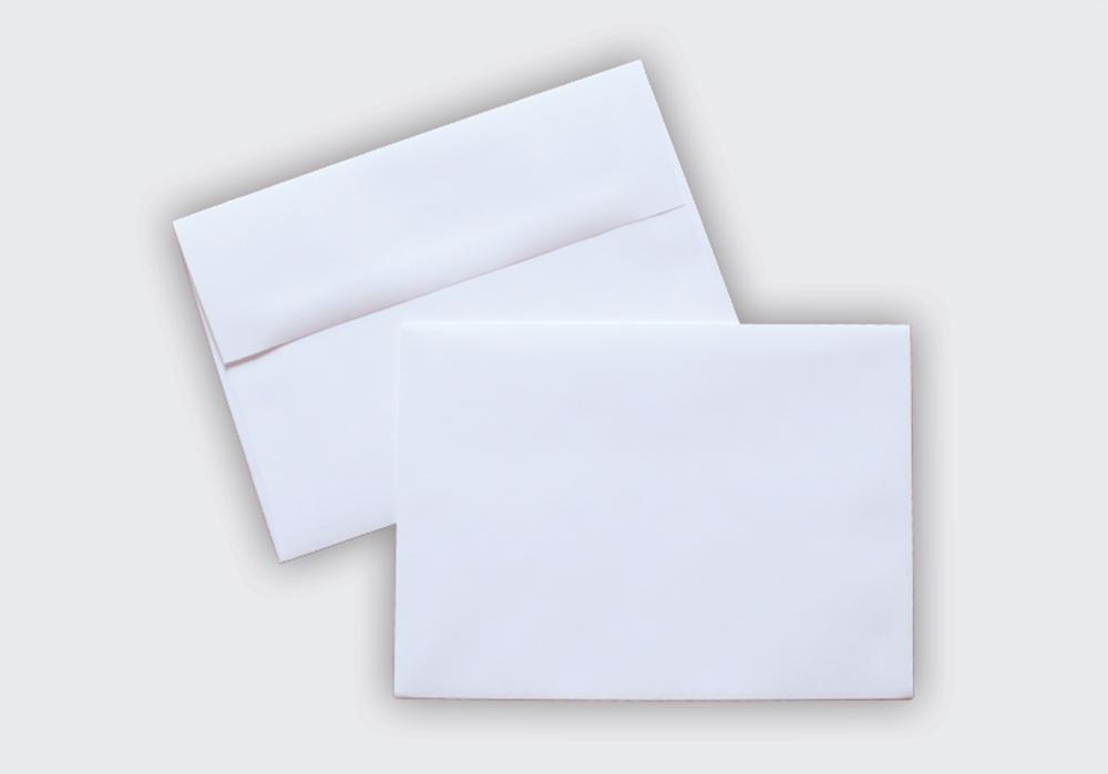 A-6 White Envelopes