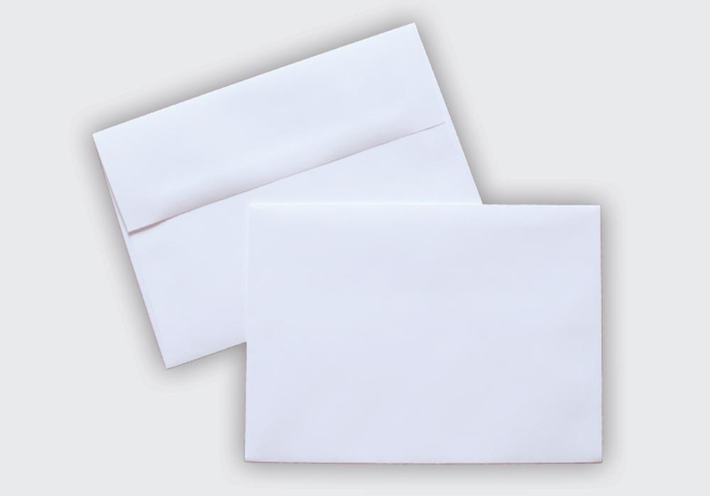 A-7 White Envelopes