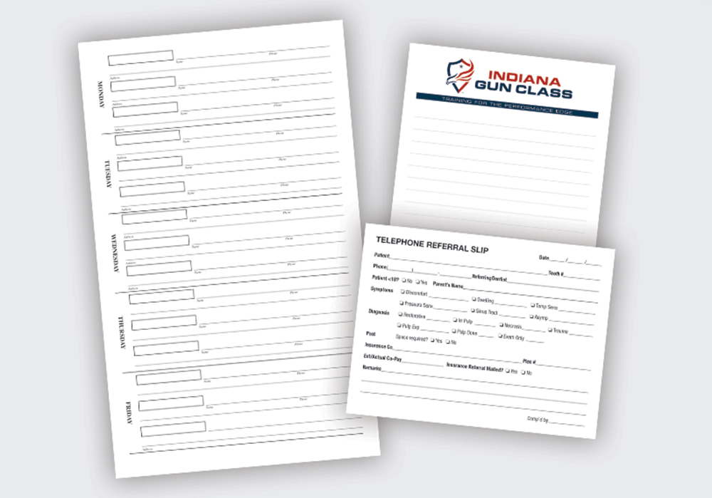 Note Pads - 25 sheets/pad