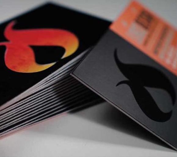 SILK W/SPOT UV BUSINESS CARDS