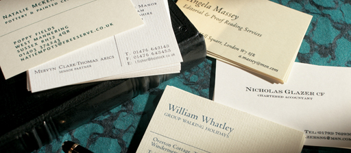 Simple 1 Color Business Cards