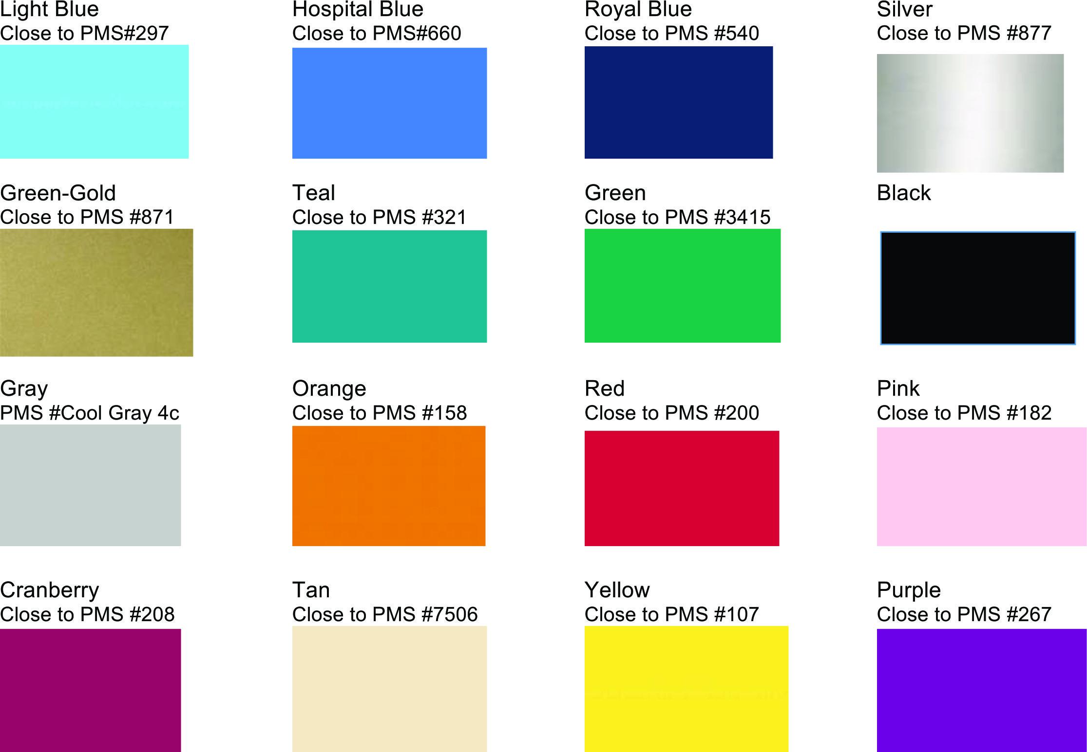 PVC Colors