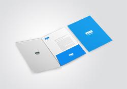 "Presentation Folders with 4"" Pockets"