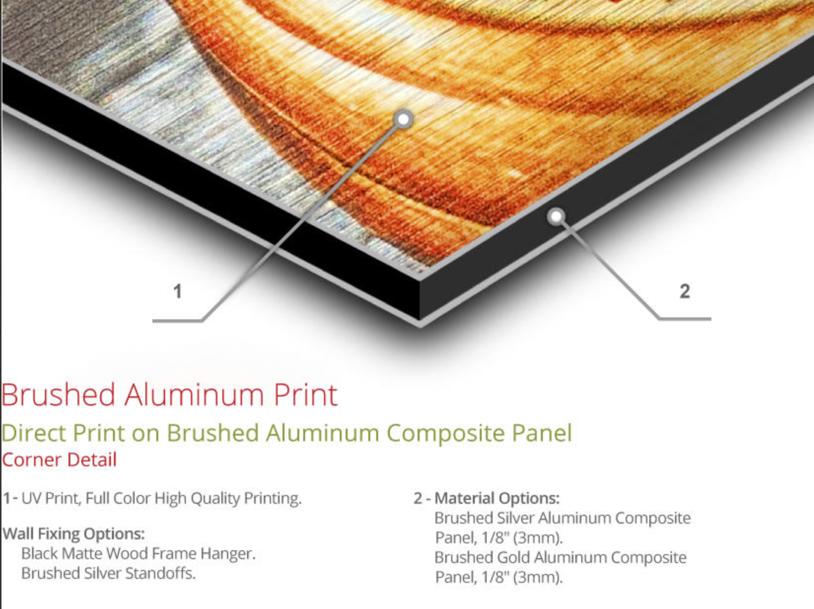Brushed Metal Prints
