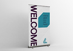 "Retractable Banners 47"" wide"