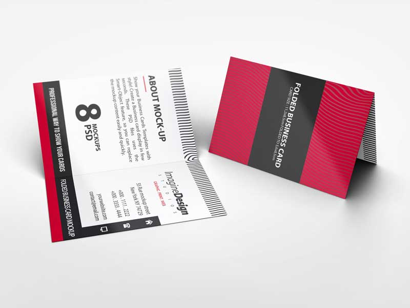 Full Color Fold Over Business Card